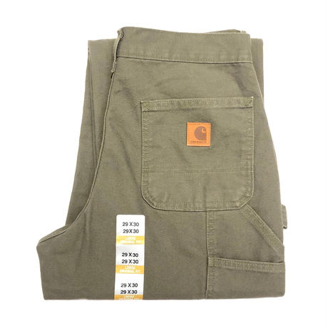 CARHARTT WASHED DUCK WORK DUNGAREE - Moss