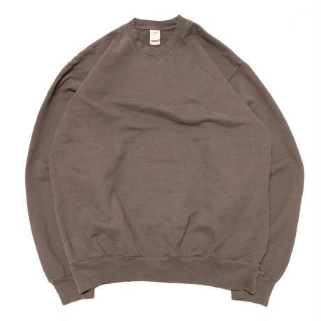 LOSANGELS APPAREL 14oz Garment Dye Crewneck-CHOCOLATE