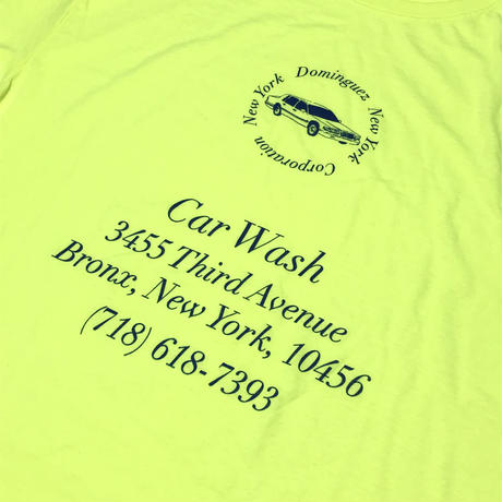 THE DOMINGUEZ CORP CAR WASH TEE - SAFETY YELLOW / NAVY