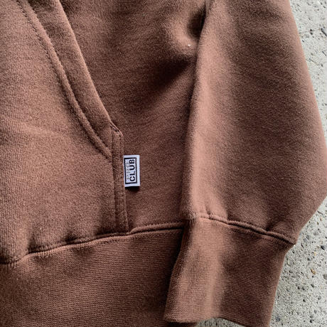 PRO CLUB PULLOVER HOODIE SWEAT - BROWN