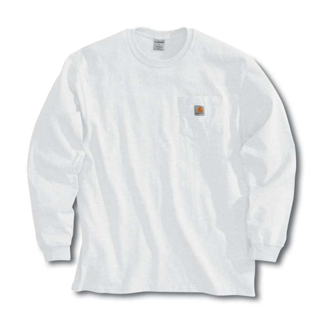 CARHARTT  LONG SLEEVE WORKWEAR POCKET T-SHIRT-White
