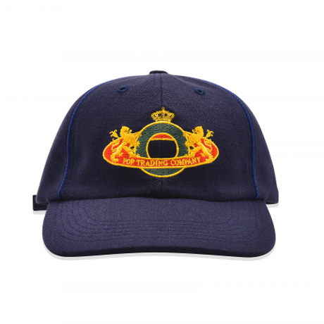 POP TRADING COMPANY ROYAL O SIXPANEL HAT - NAVY
