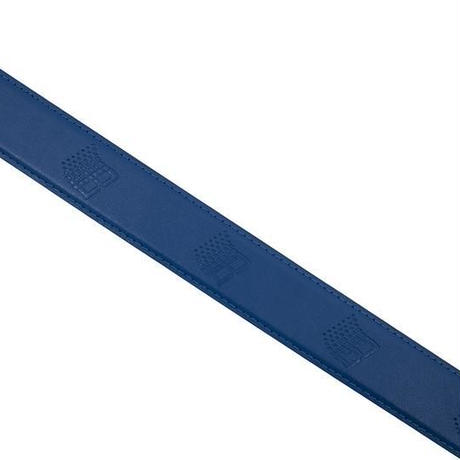 BRONZE LOGO LEATHER BELT - BLUE