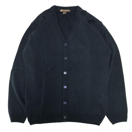 HARRITON V-NECK BUTTON CARDIGAN SWEATER - DARK NAVY