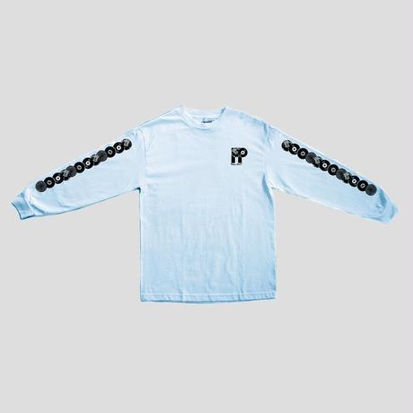 PASS~PORT PP WORLD RECORDS  L/S TEE - POWDER BLUE