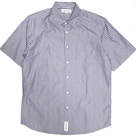 GRIND LONDON  STRIPE SHIRT - PURPLE/WHITE