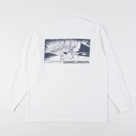 GRIND LONDON journey beyond ls tee white