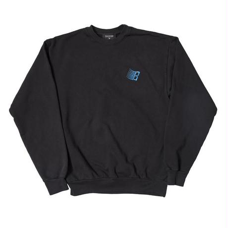 BRONZE EMBROIDERED B LOGO CREW NECK - OFF BLACK
