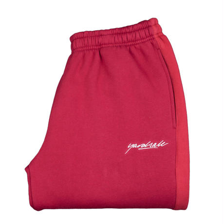 YARDSALE 2tone tracksuit bottoms Cardinal/cherry