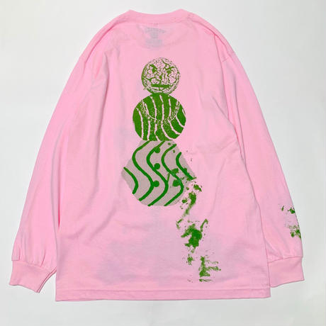 QUARTERSNACKS SPLATTER LONG SLEEVE TEE-PINK