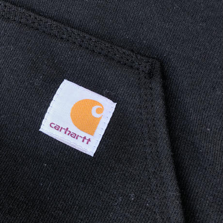 CARHARTT K288 MIDWEIGHT LOGO HOODED - BLACK