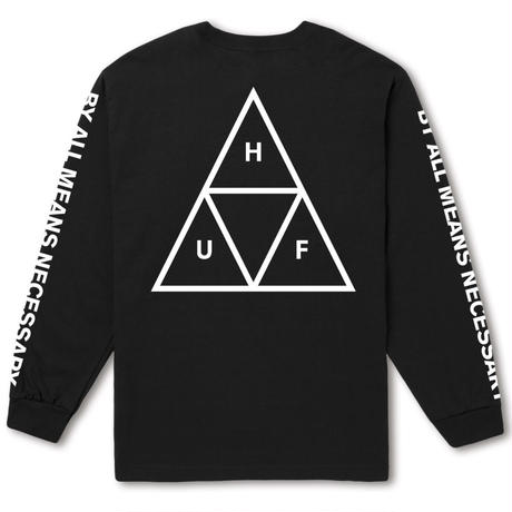 HUF TRIPLE TRIANGLE LONG SLEEVE TEE - BLACK