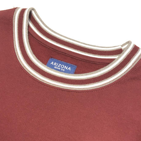 ARIZONA  COLOR CREW SWEAT - AUTUMN BURGUNDY