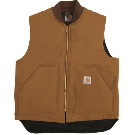 CARHARTT V01 Firm Cotton Duck Vest - CARHARTT BROWN