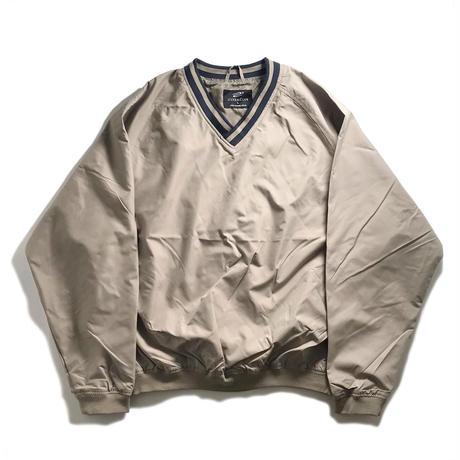 Ultra Club V-Neck Wind Shirt - Tan/Navy