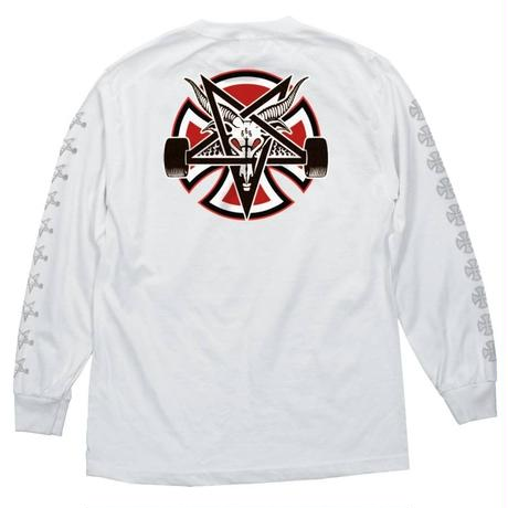 Independent Trucks x Thrasher Pentagram Cross Long Sleeve - White