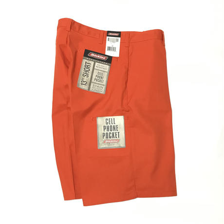 DICKIES DEAD STOCK  LOOSE FIT SHORT - SAFETY ORANGE