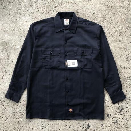 DICKIES Long Sleeve Work Shirt - Dark Navy