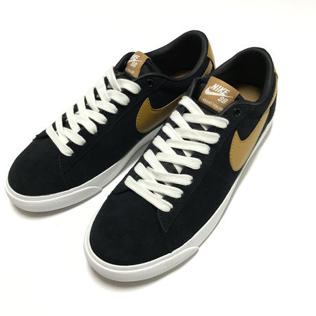 NIKE SB ZOOM BLAZER LOW GT - BLACK/WHITE/WHEAT