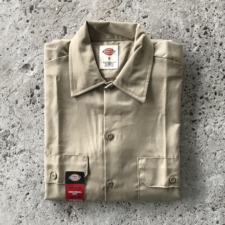 DICKIES Short Sleeve Work Shirt - Desert Sand