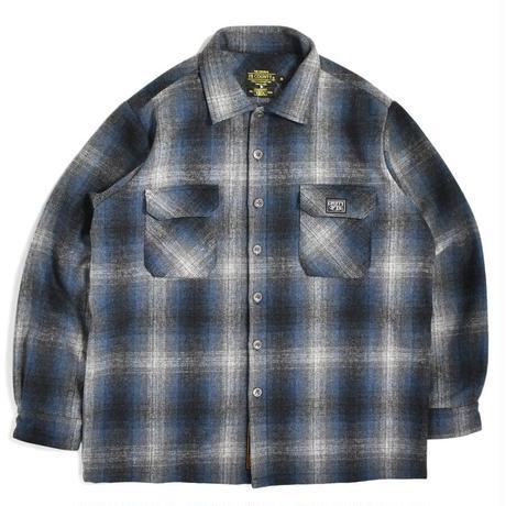 FB County Super Heavyweight Wool Blend L/S Shirt - Navy