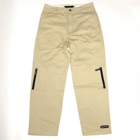 BRONZE ZIP TECH PANT - STONE KHAKI