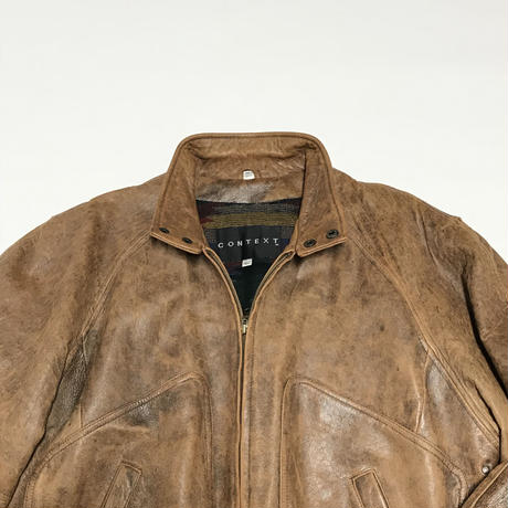 USED Context Leather Jacket