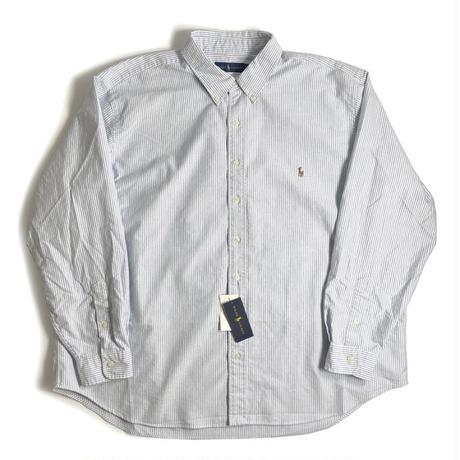 Ralph Lauren Big Size Oxford Sport Shirt - Blue Stripe (2XB,3XB)