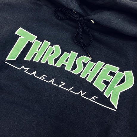 THRASHER OUTLINED HOODIE - NAVY