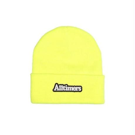 ALLTIMERS BROADWAY RUBBER BEANIE SAFETY GREEN