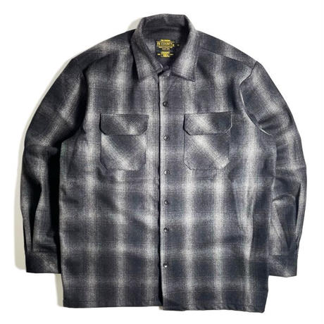 FB County Super Heavyweight Wool Blend L/S Shirt - Black/Grey