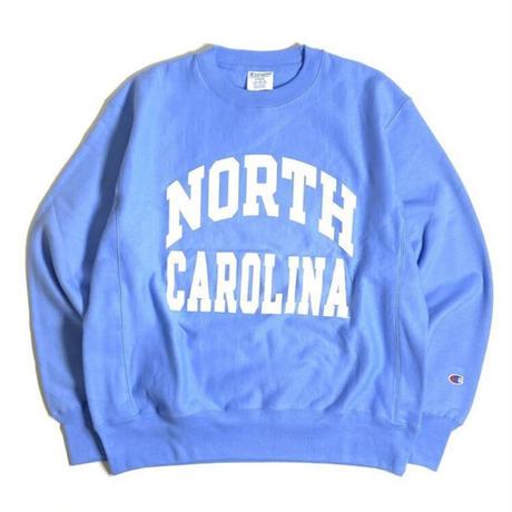 University of North Carolina Reverse Weave Crewneck Sweatshirts - Sax/White