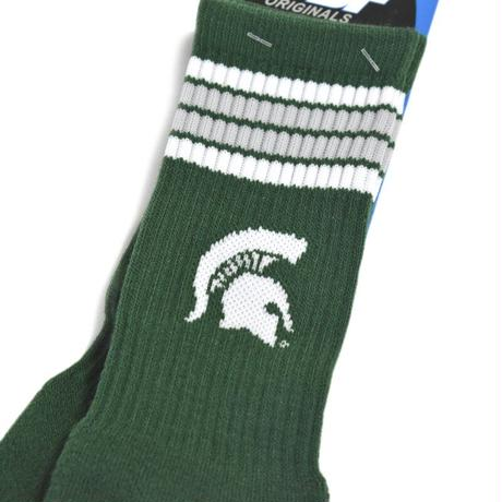 Michigan State Spartans Official License Socks - Green