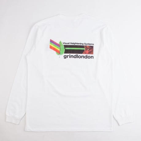 GRIND LONDON VHS L/S TEE - WHITE