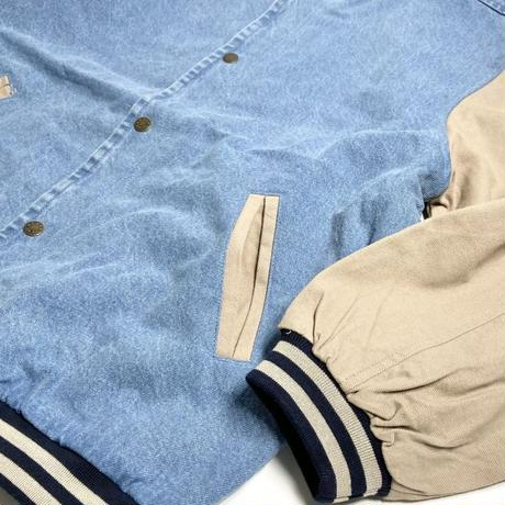 Cobra Caps Washed Denim Jacket -Sky/Khaki
