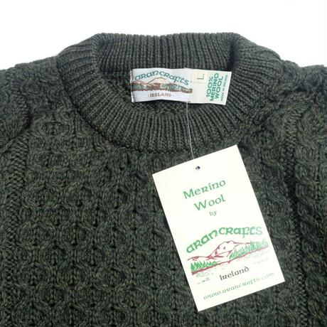 West End Knitwear Merino Crewneck Sweater - Army Green