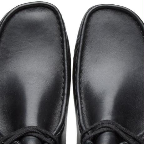 CLARKS WALLABEE BOOT - Black Leather