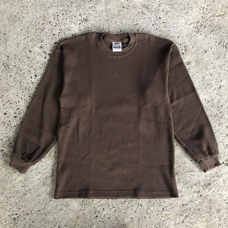PRO CLUB THERMAL LONGSLEEVE TEE - BROWN