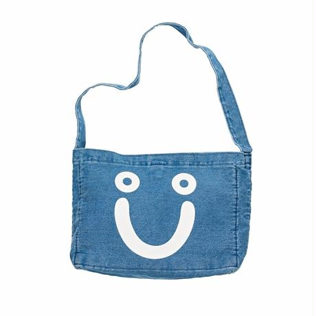 POLAR SKATE CO.HAPPY SAD DENIM TOTE BAG-70'S BLUE