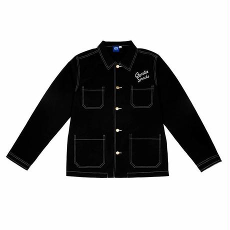 QUARTERSNACKS NYLON CHORE JACKET - Black