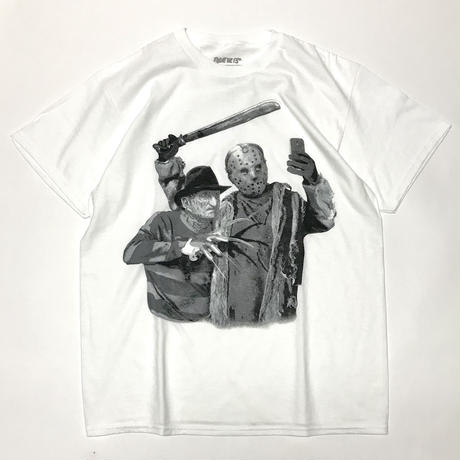 FRIDAY THE 13TH JASON & FREDDY SELFIE TEE - White