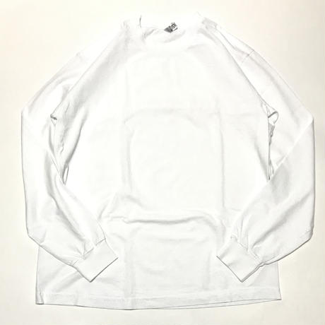 LOS ANGELES APPAREL 6.5oz Garment Dye L/S Tee - White