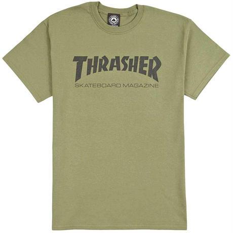 THRASHER SKATE MAG T SHIRTS - OLIVE