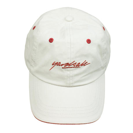YARDSALE SCRIPT CAP - Tan/Strawberry