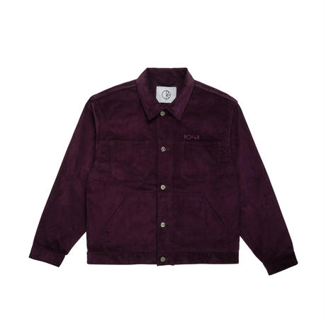 POLAR SKATE CO CORD-JACKET-PRUNE