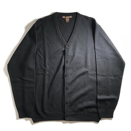 Harriton V-Neck Acrylic Cardigan - Black