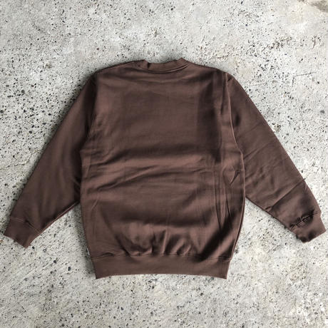 PRO CLUB CREWNECK SWEAT - BROWN