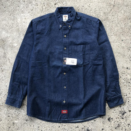 DICKIES Long Sleeve Denim Shirt -  Indigo Blue
