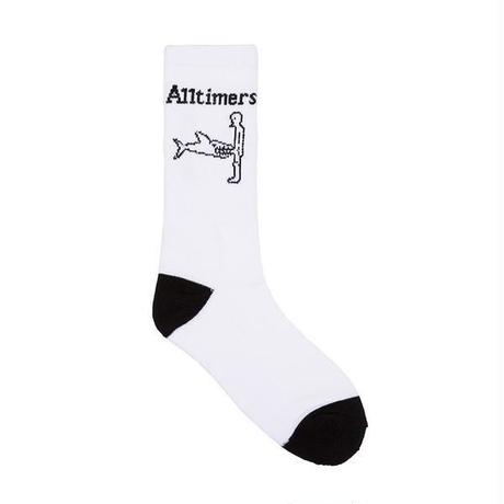 ALLTIMERS SHARK DICK SOCKS - WHITE/BLACK