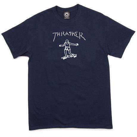 THRASHER  Gonz By Mark Gonzales Tee - Navy